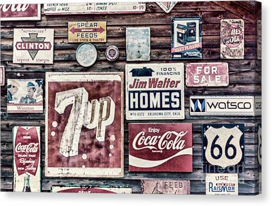 Placard Canvas Print - Signage II by DiFigiano Photography