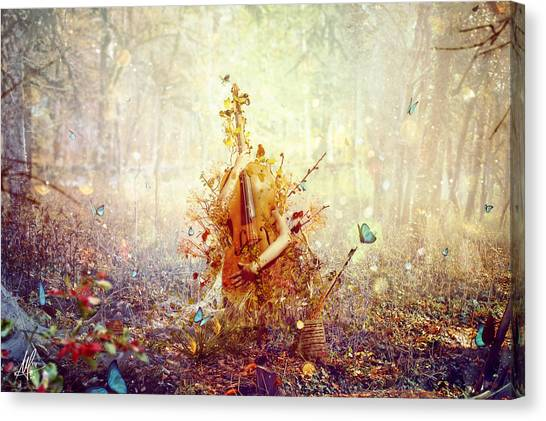 Cellos Canvas Print - Silence by Mario Sanchez Nevado