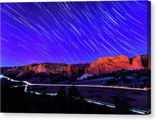 Silent Night At The Garden Of The Gods Canvas Print