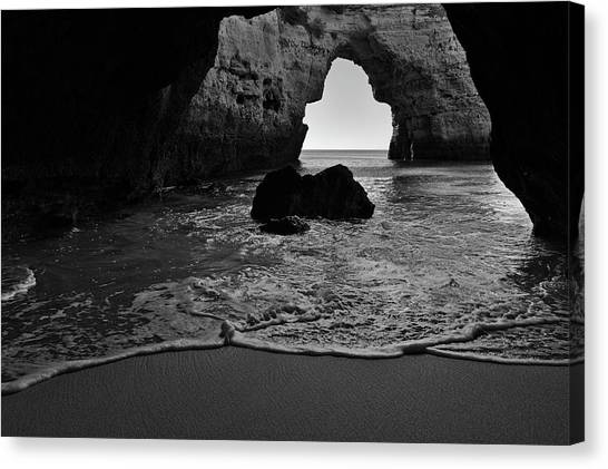 Silky Waves In Monochrome Canvas Print