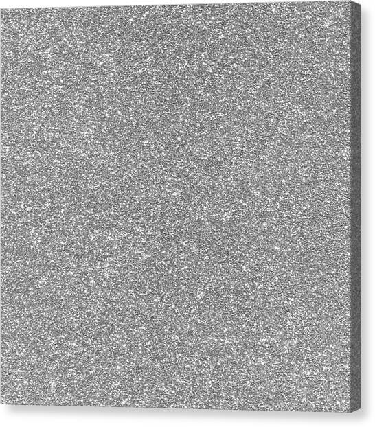 Canvas Print featuring the photograph Silver Glitter  by Top Wallpapers