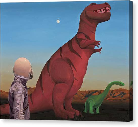 Canvas Print featuring the painting Simone by Scott Listfield
