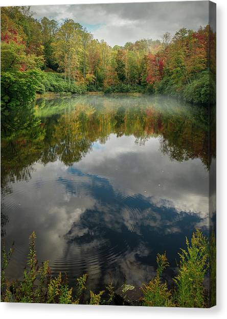 Sims Pond Blowing Rock North Carolina Canvas Print