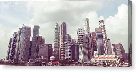 Singapore Cityscape The Second Canvas Print