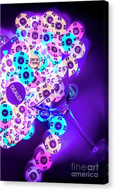 Neon Canvas Print - Singapore Sling by Jorgo Photography - Wall Art Gallery