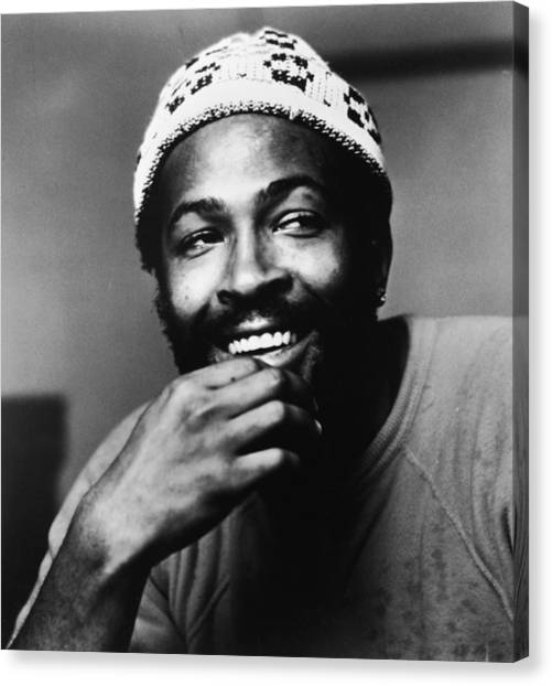 1972 Canvas Print - Singer Marvin Gaye In Knit Cap by Pictorial Parade