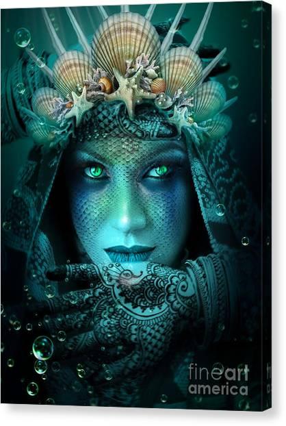 Sister Green Eyes Canvas Print