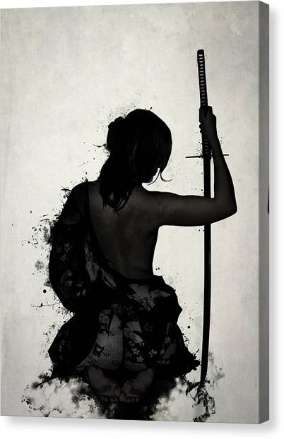 Powerful Canvas Print - Female Samurai - Onna Bugeisha by Nicklas Gustafsson