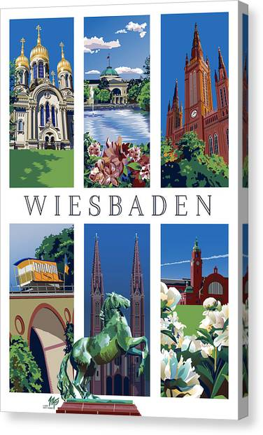 Six Views Of Wiesbaden Canvas Print