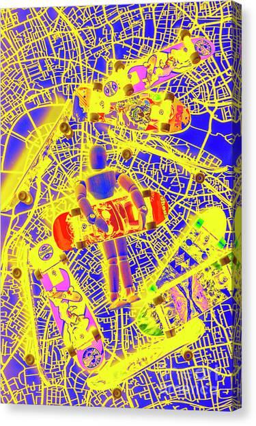Punk Canvas Print - Skate City by Jorgo Photography - Wall Art Gallery
