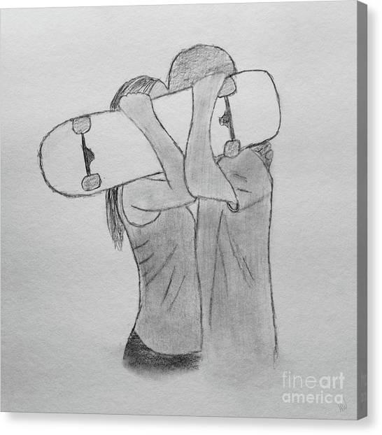 Fineart Canvas Print - Skate Love by Karlie White