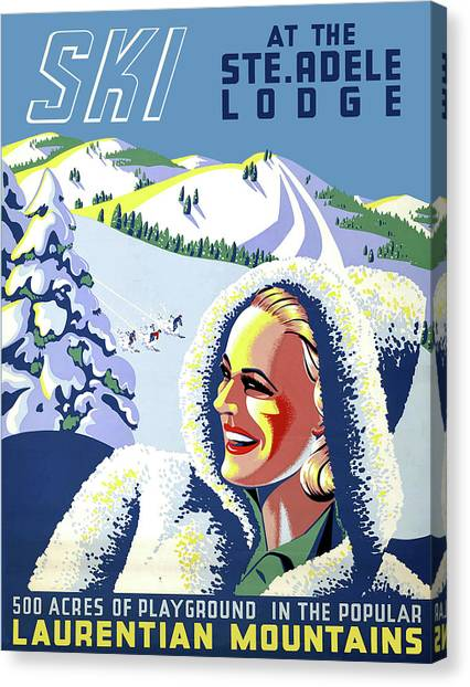 Adele Canvas Print - Ski At The Adele Lodge by Long Shot