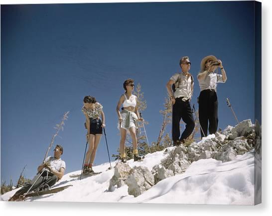 Ski Fashion Canvas Print