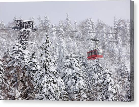 Ski Lift On Asahidake, Daisetsuzan Canvas Print by Radius Images