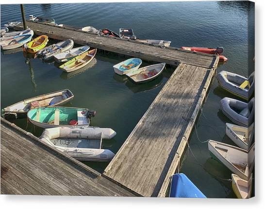 Skiffs In Rockland Harbor Canvas Print