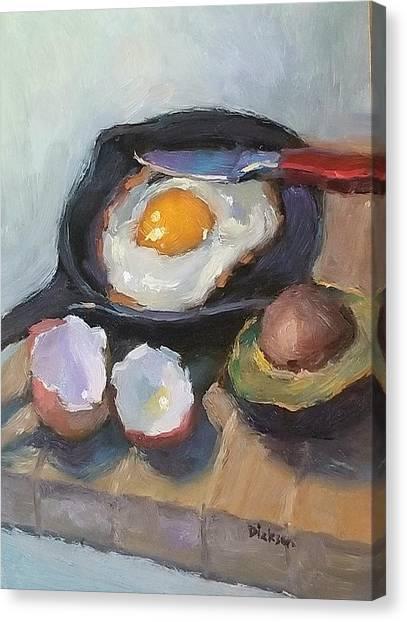 Skillet Breakfast Canvas Print