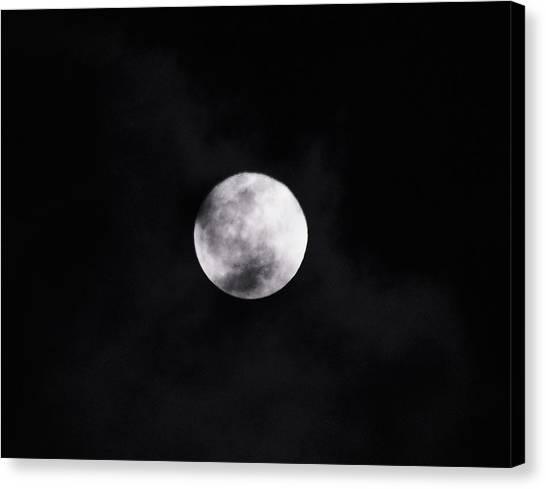 Skull Moon Canvas Print