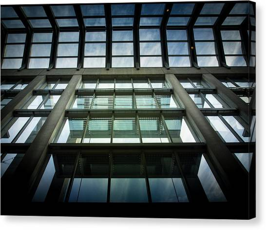 Canvas Print featuring the photograph Sky At The National Gallery Of Canada by Juan Contreras