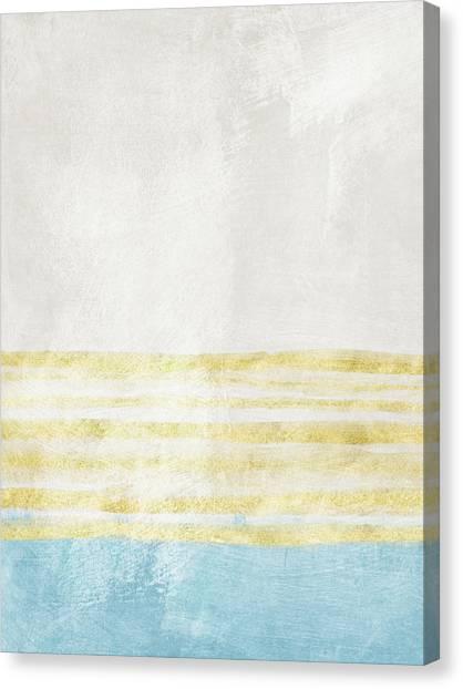 Stripe Canvas Print - Sky Blue 1- Art By Linda Woods by Linda Woods