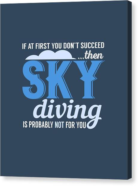 Sky Diving Canvas Print