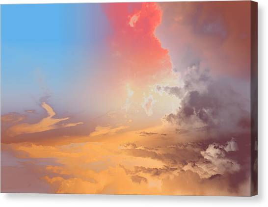 Sky Fight Canvas Print