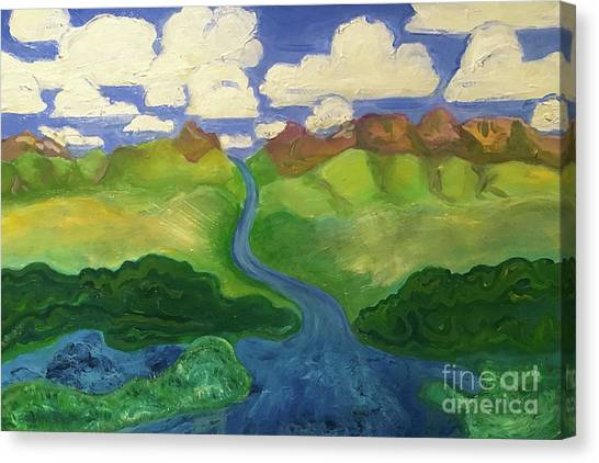 Sky River To Sea Canvas Print