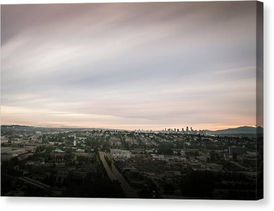 Canvas Print featuring the photograph Sky View by Juan Contreras