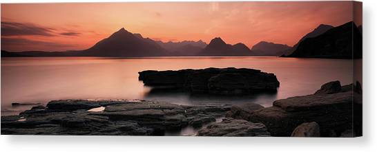 Canvas Print featuring the photograph Skye Sunset by Grant Glendinning