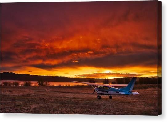 Skylane Sunrise Canvas Print