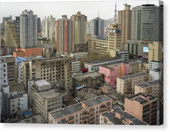 Skyline Urumqi Xinjiang China Canvas Print