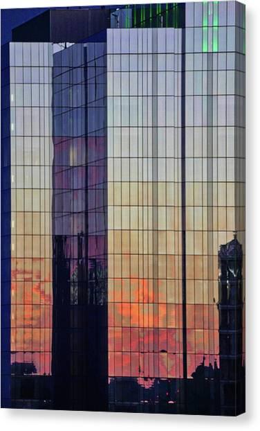 Skyscraper Sunset Canvas Print