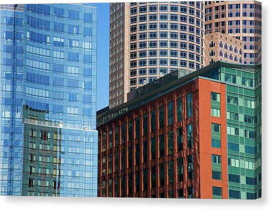 Skyscrapers, Fort Point Channel Canvas Print by Design Pics / Richard Cummins