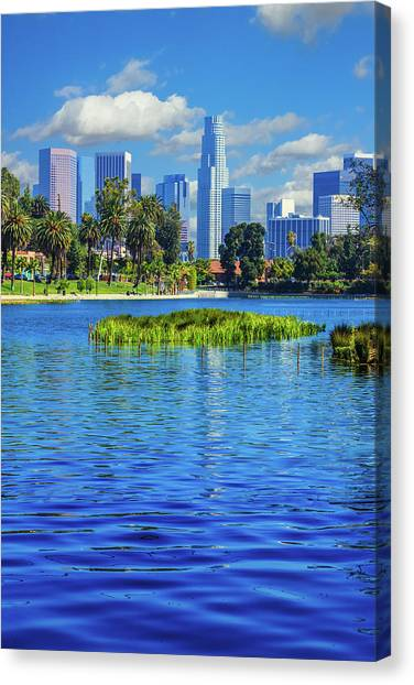 Skyscrapers Of Los Angeles Canvas Print by Ron thomas