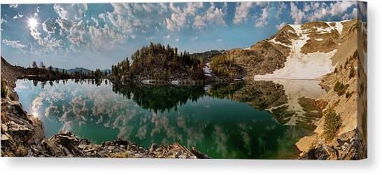 Altitude Canvas Print - Skytop Panoramic by Leland D Howard