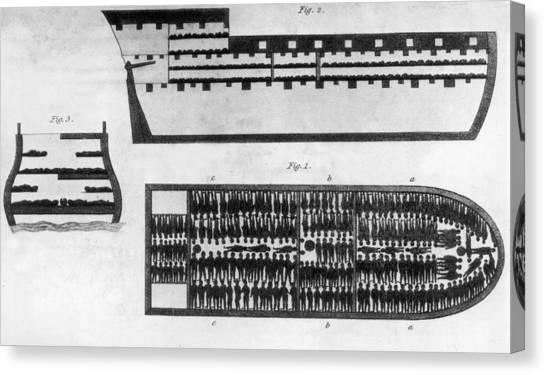 Slave Ship Canvas Print by Hulton Archive