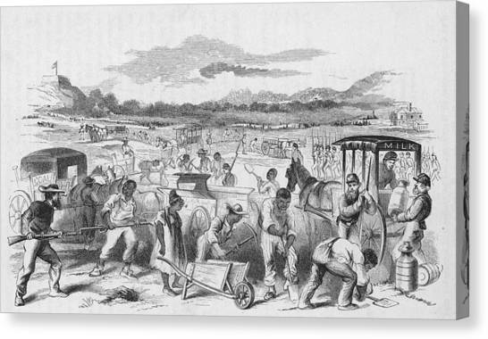 Slaves Forced To Work On Nashvillle Canvas Print by Kean Collection