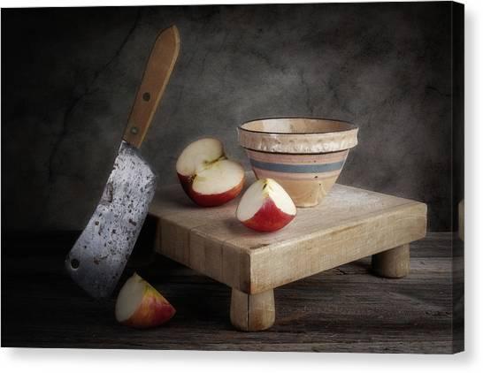 Utensil Canvas Print - Sliced Apple by Tom Mc Nemar