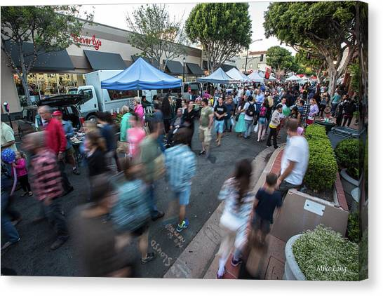 Slo Farmers Market Canvas Print