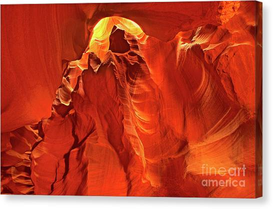 Slot Canyon Formations In Upper Antelope Canyon Arizona Canvas Print