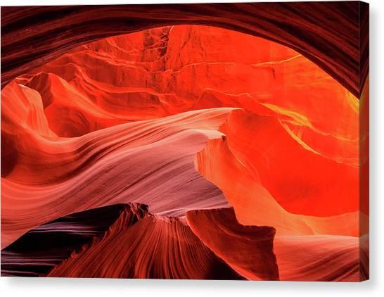 Slot Canyon Waves 1 Canvas Print