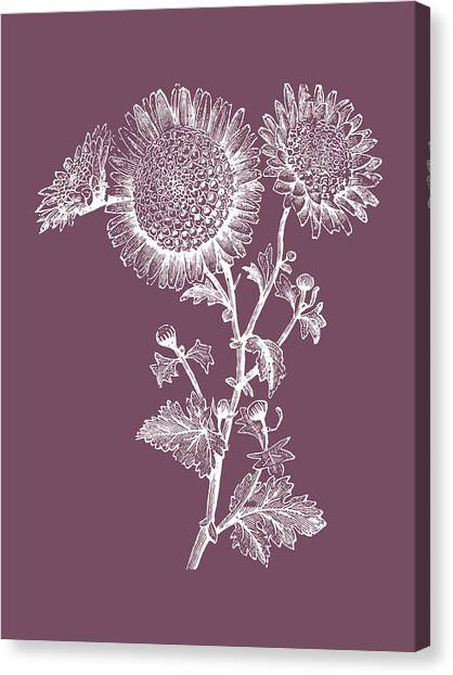 Bouquet Canvas Print - Small Anemone Purple Flower by Naxart Studio
