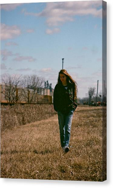 Canvas Print featuring the photograph Small Town Girl by Carl Young
