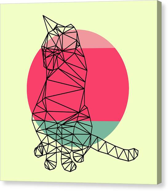 Lynx Canvas Print - Smart Cat And Sunset by Naxart Studio