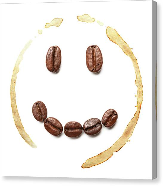 Smile Coffee Beans Canvas Print