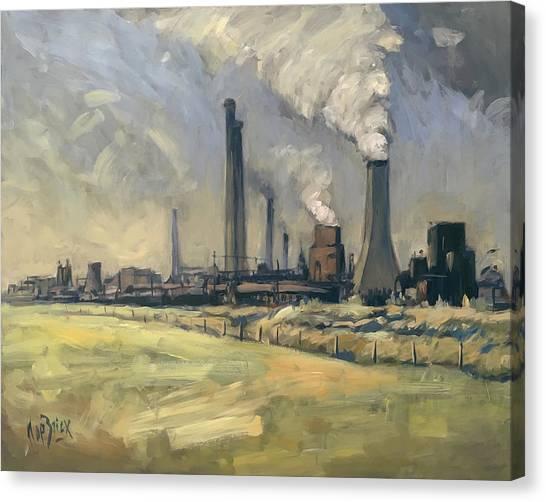 Smoke Stacks Prins Maurits Mine Canvas Print