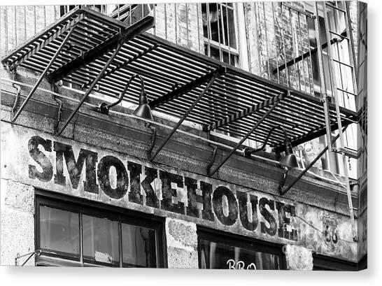 Smokehouse New York City Canvas Print by John Rizzuto