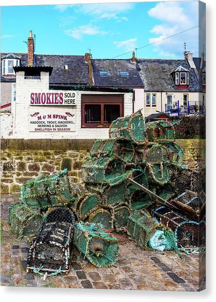 Smokehouses Canvas Print - Smokies Arbroath by Charles Hutchison