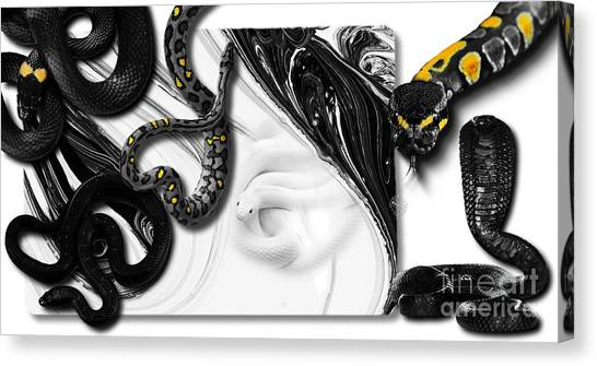 Ball Pythons Canvas Print - Snake Mix No 01 by iMia dEsigN