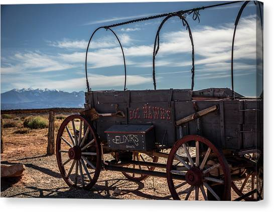 Canvas Print featuring the photograph Snake Oil by David Morefield