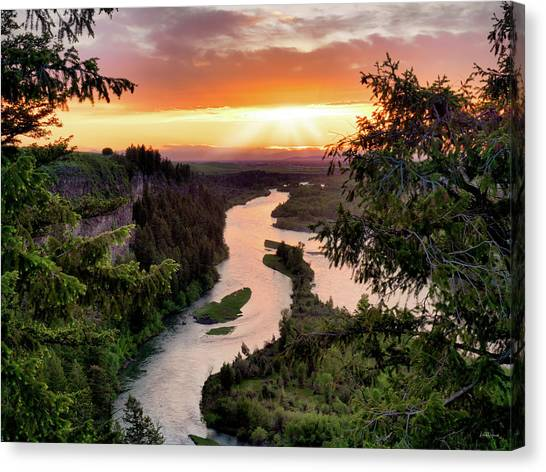 Idaho Canvas Print - Snake River Sunset by Leland D Howard